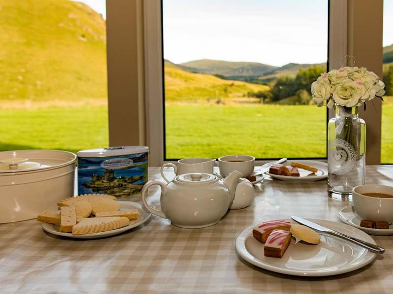 Afternoon Tea with a view of Dalmunzie Estate
